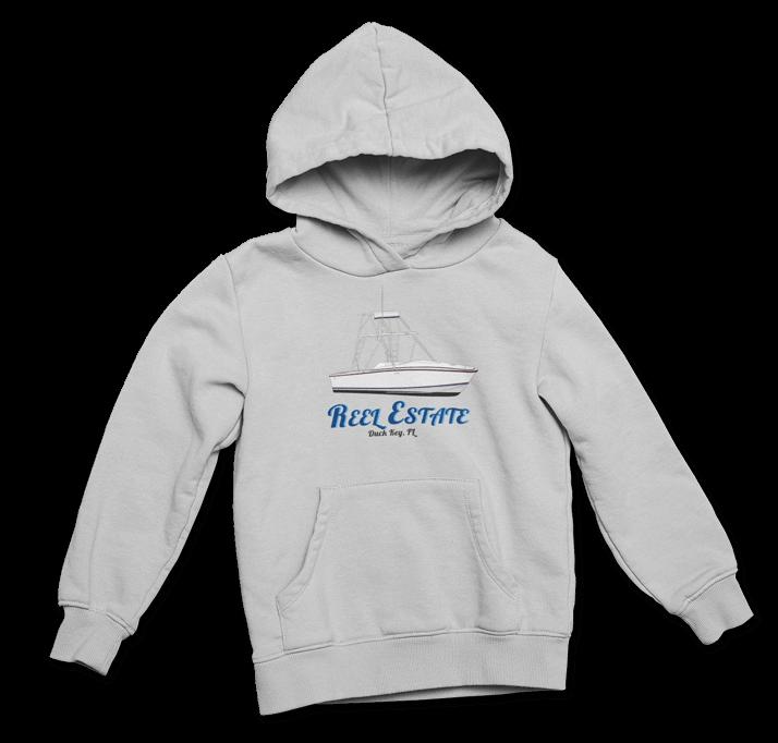 An image of a custom yacht hoodie printed by Custom yacht shirts.