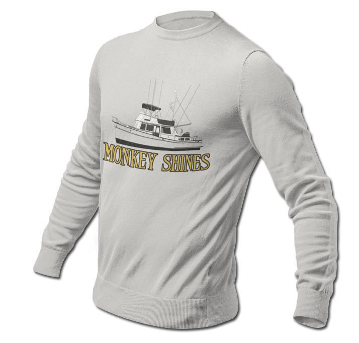An image of a longsleeve tshirt from custom yacht shirts.