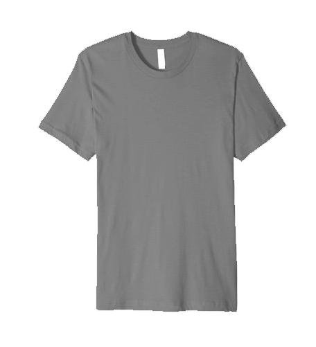 An image of a premium fitted shirt available for personalization of your custom yacht products.