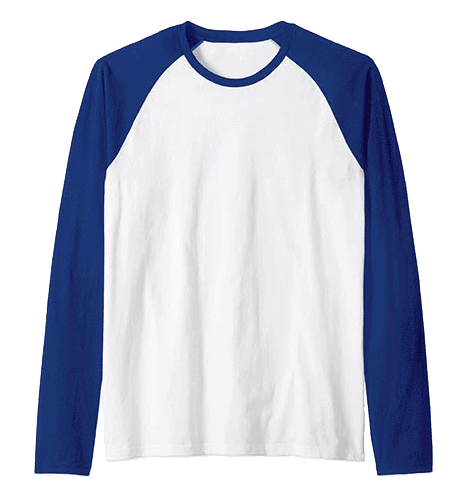 An image of the raglan longsleeve tshirt available for custom, personalized boat gear at Custom Yacht Shirts.