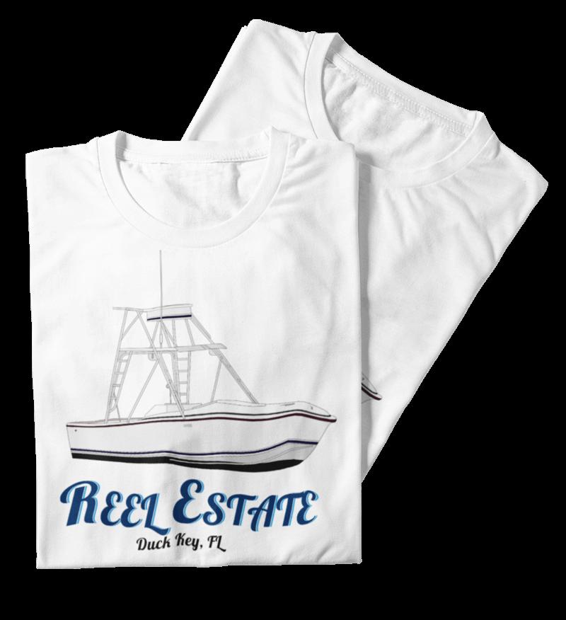 An image of custom boat shirts created at CustomyachtShirts.com