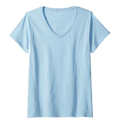 An image of the v-neck t-shirt available for order of your custom boat tee shirt from Custom Yacht Shirts.