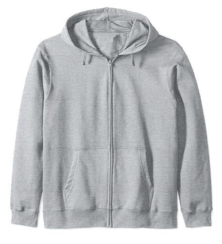 An image of a frontzip hoodie that is available as an option for your custom yacht products.