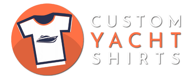 An image of the Custom Yacht Shirts logo featuring a tshirt with a yacht on the front within an orange circle.