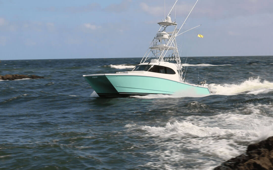 """Is this Jimmy Buffett's 42′ Freeman """"Last Mango"""" spotted at Boca Raton Inlet?"""
