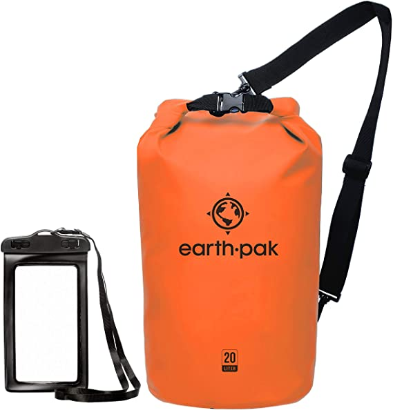 An image of a earth pak waterproof dry bag, a great gift for the boat owner on your shopping list.