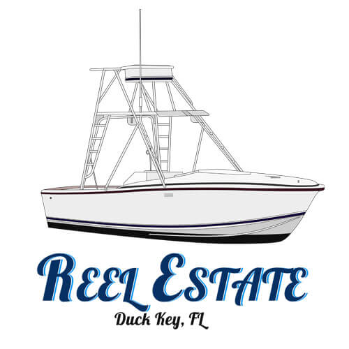 An image of the boat line art drawing of the 24' Blackfin Reel Estate